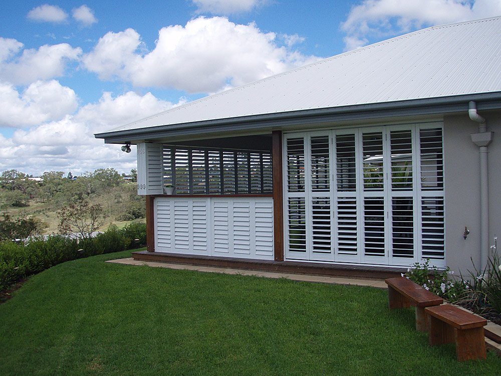painted timber shutters