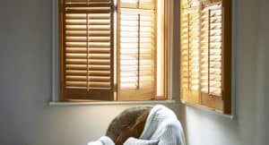 Stained Timber Shutters Brisbane